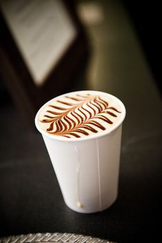 Latte art done just right.