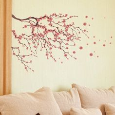 Delightful Cherry Blossoms Wall Decal Tree Decals Baby Girl Nursery Wall Decals  Children Kids Cherry Blossom Branches With Birds Vinyl Floral Nature |  Babies ... Good Looking