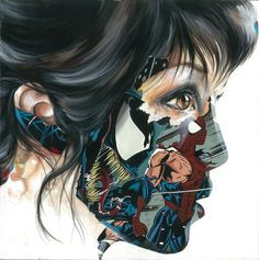 collages de Sandra Chevrier, I love her art. Sandro, Vida Cruel, Graphic Design Illustration, Illustration Art, Sandra Chevrier, Collages, Comic Tattoo, Inked Magazine, Portraits