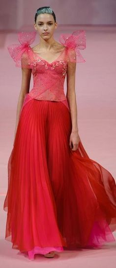 Alexis Mabille Couture, love it except for the poufy shoulder bows