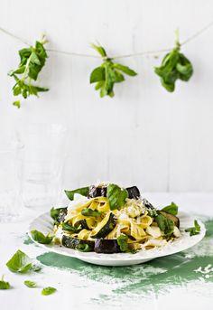 Yrttinen mozzarellapasta   K-Ruoka Mozzarella, Risotto, Food Porn, Lunch, Snacks, Dinner, Health, Dining, Appetizers