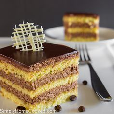This layered almond coffee cake is everything! The spongecake is made with almond flour and melted butter, which gives it an incredibly moist texture. The filling is a rich chocolatey cream infused with coffee flavor. A velvety chocolate ganache covers the entire cake for the ultimate chocolate lovers dessert. Many of these ingredients can
