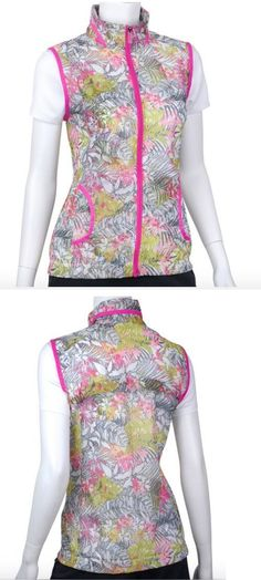 bf5b1f5b0ad4 Athletic Vests 181143  Nwt Ep Pro Mai Tai Pink Hawaiian Floral Sleeveless  Athletic Vest Golf