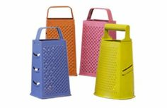 Easy and colorful cheese grater lantern centerpieces