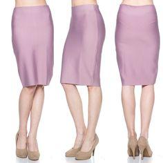 Power Bandage Knit Midi Skirt