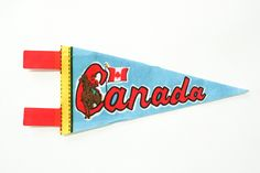 vintage Canada souvenir pennant / travel pennant / vintage 60s felt banner / midcentury by dustyrosevintage on Etsy https://www.etsy.com/listing/168120400/vintage-canada-souvenir-pennant-travel