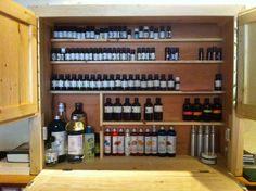 Rangement pour huiles essentielles, en bois de palettes