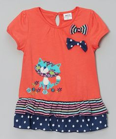 Loving this Red Cat & Bows Top - Infant, Toddler & Girls on #zulily! #zulilyfinds
