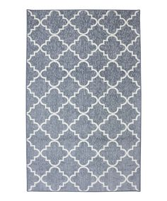Take a look at this Gray Quatrefoil Rug today! $89.99