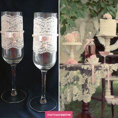Sweet 15 Invitations, Wedding Glasses, Wedding Accessories, Champagne, Wedding Ideas, Decorating, Creative, Crafts, Craft