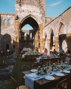 the most beautiful dinner setup 📍The Unfinished Church #REVOLVEaroundtheworld