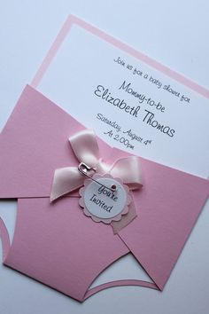 Diaper Invites, doing these myself for my baby shower!