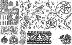 basic Chikankari motifs