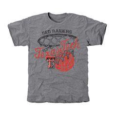 7602e782c Texas Tech Red Raiders Hoop Tri-Blend T-Shirt - Ash University Outfit,