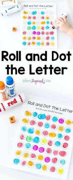 Teach letters with this roll and dot the letter alphabet activity! It is a great way for preschoolers and kindergarten students to learn the alphabet!