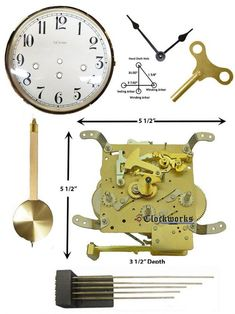Mechanical Clock Kits - Build a Grandfather Clock with Ease : Clockworks Mechanical Wall Clock, Antique Mantle Clock, Wall Clock Kits, Pendulum Clock, Battle Axe, Clock Movements, Grandfather Clock, Wood Screws, Clocks