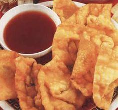 Receta Wantan Frito y como hacer salsa de tamarindo! - Peruvian food