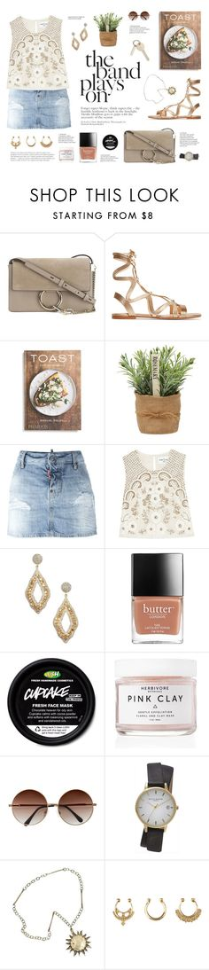 """""""""""It is better to be hated for what you are than to be loved for what you are not."""" -André Gide, Autumn Leaves"""" by are-you-with-me ❤ liked on Polyvore featuring Chloé, Gianvito Rossi, PHAIDON, Dsquared2, Needle & Thread, Vanhi, Herbivore, Topshop and Charlotte Russe"""