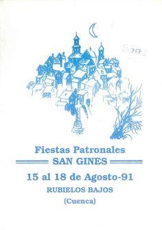 """Fiestas de San Ginés en Rubielos Bajos (Cuenca). Del 15 al 18 de agosto de 1991. Tradicional """"puñao"""" en el Recinto Ferial. #Fiestaspopulares #RubielosBajos #Cuenca"""