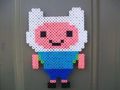 Adventure Time Finn  Magnet perler beads by downybear