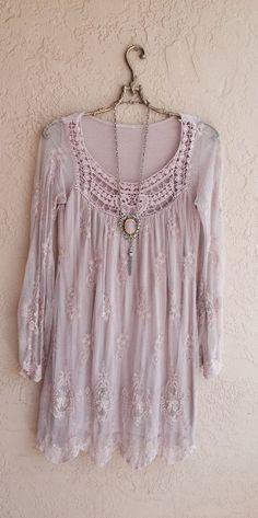 Pretty dusty pink boho blouse.