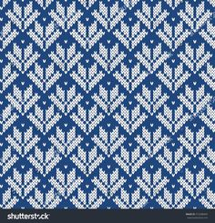 Jacquard Fairisle Wool Seamless Knitting Pattern Fair Isle Knitting Patterns, Knitting Charts, Crochet Blanket Patterns, Knitting Stitches, Knitting Designs, Knit Patterns, Hand Knitting, Cross Stitch Patterns, Mittens Pattern