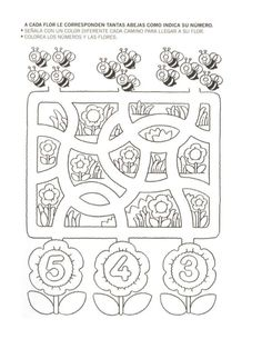 Crafts,Actvities and Worksheets for Preschool,Toddler and Kindergarten.Lots of worksheets and coloring pages. Preschool Worksheets, Preschool Activities, Counting Worksheet, Maze Worksheet, Math For Kids, Crafts For Kids, Pre Writing, Bee Theme, Numeracy