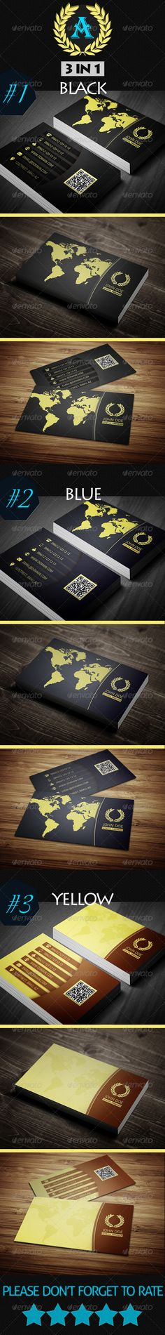 Elegant Business Card 3in1 - Industry Specific Business Cards