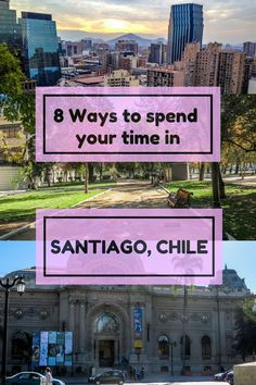 8 of the best ways to spend your time in Santiago Chile. Santiago is the capital of Chile and a travellers dream. Save this pin so you know where to go on your trip to Chile. #chile #chiletravel #southamerica #discoversouthamerica