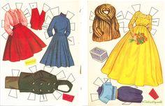 1960 Debbie Reynolds paper doll clothes / eBay
