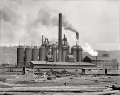 The first steel plant in Pittsburgh, built by steel magnate Andrew Carnegie. Reprinted from Pittsburgh and the Great Steel Strike of 1919 by Ryan C. Brown, courtesy of the Library of Congress (pg. The History Press, Carnegie Steel, Pennsylvania History, Steel Companies, Andrew Carnegie, Steel Mill, Investment Companies, Industrial Photography, Pittsburgh Pa, Pittsburgh Skyline