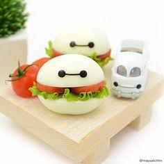 Baymax egg burgers