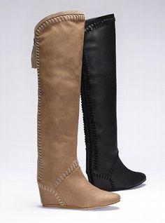 Whipstitch Wedge Boot - Colin Stuart - Victoria's Secret