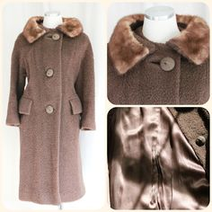 Foxy Lady Brown Fox Fur Coat - Vintage Loves Collection - 50's by SweetLoveofMyne on Etsy
