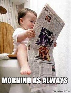 Morning as always...