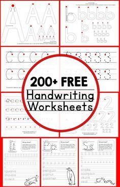 200 free handwriting worksheets