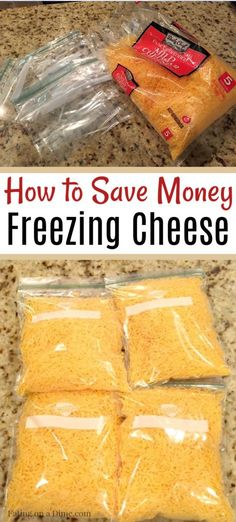 Can you freeze cheese? Learn how to freeze cheese with these simple steps. Plus freezing cheese can help you save money. Freezing Cheese, Freezer Cooking, Cooking Tips, Cooking Steak, Freezer Recipes, Freezing Vegetables, Canning Recipes, Canning 101, Canning Jars