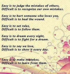 Easy to judge the mistakes of others...