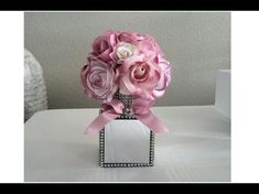 Hello everyone! This diamond bling glam mirror box is great for all occasions. it can be used in weddings, or very decorative home decor, and it's also gre. Tree Centrepiece Wedding, Mirror Centerpiece, Dollar Tree Centerpieces, Diy Centerpieces, Glam Mirror, Mirror Box, Diy Mirror, Diy Wedding Gifts, Diy Wedding Decorations