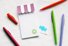 FREE printable Candy Shop Notepad