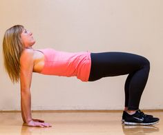 Reverse Plank - Not only does the reverse plank target your core, but youll feel the burn in your glute muscles, too! A No-Equipment Total-Body Workout For Any Space Body Fitness, Fitness Diet, Fitness Motivation, Health Fitness, Workout Fitness, Club Sportif, Pilates, Corps Parfait, Workout Bauch