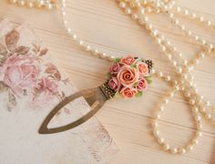 Suze's Treasures: Polymer Clay Rose Bookmarks