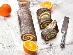 Mákos keksztekercs narancskrémmel, az illatos és omlós vendégváró desszert | Nők Lapja Napkin Rings, Cheese, Cake, Food, Kuchen, Essen, Meals, Torte, Cookies