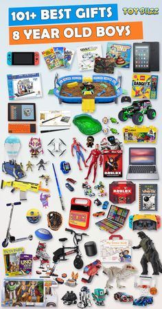 Browse our Gift Guide For Kids featuring Best Toys and Gifts For Boys. Discover educational toys, unique gifts, kids games, kids books, and more for your 8 year old boy. Make his Birthday or Christmas extra magical with these delightful picks he'll love! Best Gifts For Boys, Presents For Girls, Birthday Gifts For Boys, Boy Birthday, Birthday Board, 7 Year Old Christmas Gifts, Christmas Fun, 8 Year Old Boy, Kids Toys For Boys