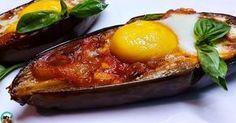 Berenjenas con tomate y huevo