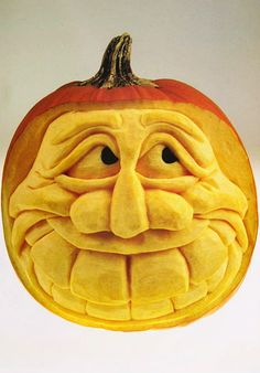 ☆ Extreme Pumpkin Carving Book: Happy Face :¦: By Vic Hood and Jack A. Awesome Pumpkin Carvings, Pumkin Carving, Scary Pumpkin, Pumpkin Art, Pumpkin Faces, Pumpkin Crafts, Pumpkin Ideas, Halloween Pumpkins, Halloween Crafts
