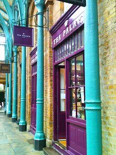 :  Tea Palace Tea Room., Covent Garden  London, UK. I've been here! It's nice.