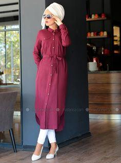 robes de pluie - Bordeaux - Tunique - Modanisa