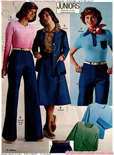 1975 JCPenney Christmas Book, Page 80 - Christmas Catalogs & Holiday Wishbooks 70s Women Fashion, Decades Fashion, Fashion Through The Decades, 70s Inspired Fashion, Retro Fashion, Vintage Fashion, Classic Fashion, Fashion Tips, Patti Hansen