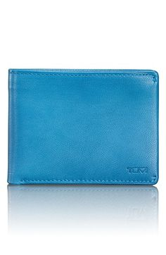 Men's Tumi 'Chambers' Leather Wallet - Blue/green